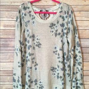 Lauren Conrad Floral Tunic Sweater XXL